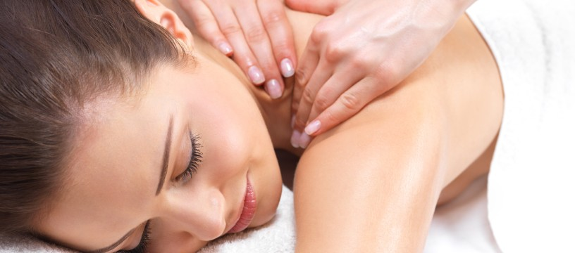 A woman getting a soothing massage